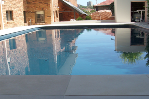 cap 2 - for a deep dark Blue, this pool has been resurfaced with New Slate