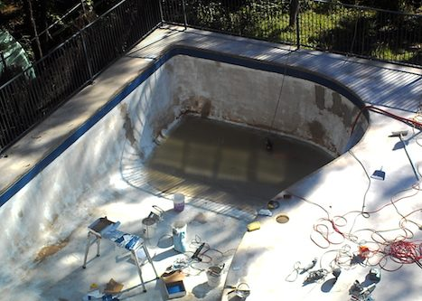 12b - pool renovation. pool painting - residential - sydney NS