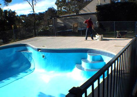 12c - pool renovation. pool painting - residential - sydney NS