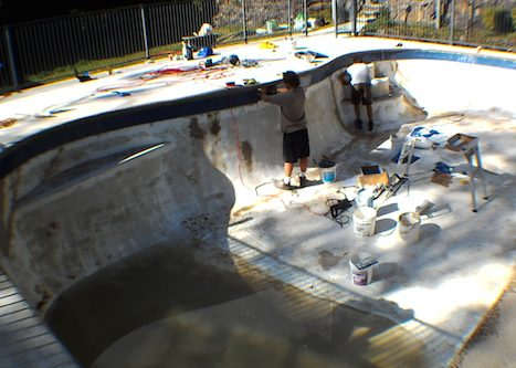 12d - pool renovation. pool painting - residential - sydney NS