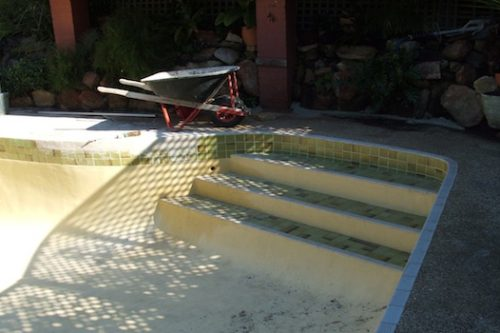 1c - pool renovation. pool painting