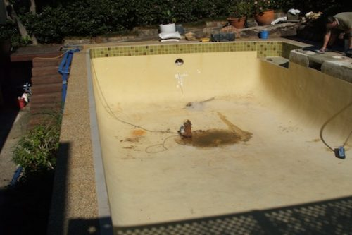 1d - pool renovation. pool painting