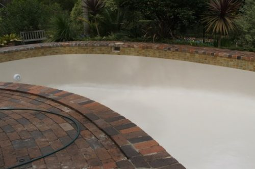 2c - pool renovation. pool painting