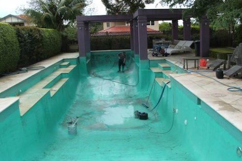 3 - pool renovation. pool painting
