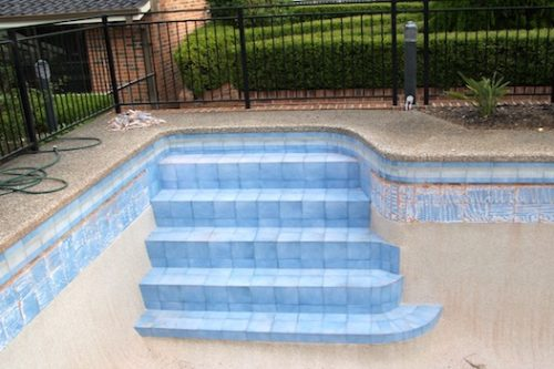 5a - pool renovation. pool painting