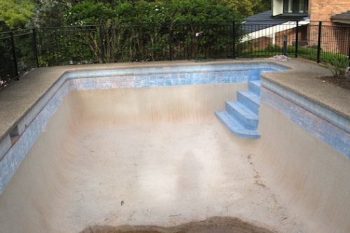 5c - pool renovation. pool painting