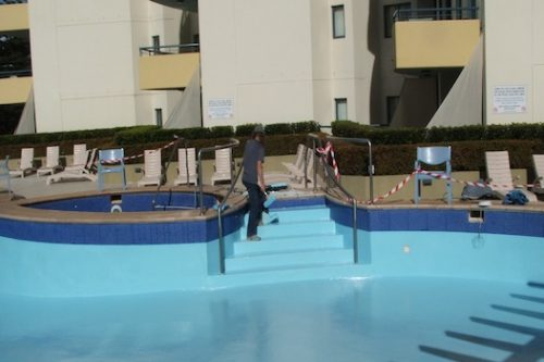7b - commercial pool - Quest apartments, Cronulla, NSW - rooftop pool painting