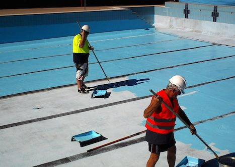 8k - olympic pool - Sydney - pool painting & renovation